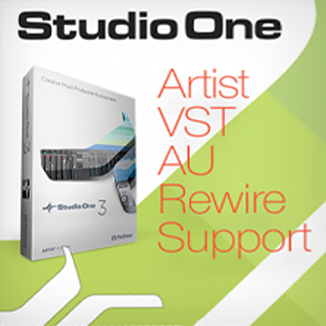 PreSonus AU, VST & Rewire Support for Studio One Artist 3 or 4