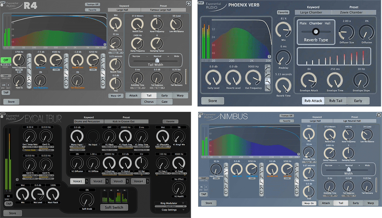 Exponential Audio Stereo Reverb Bundle • PluginFox
