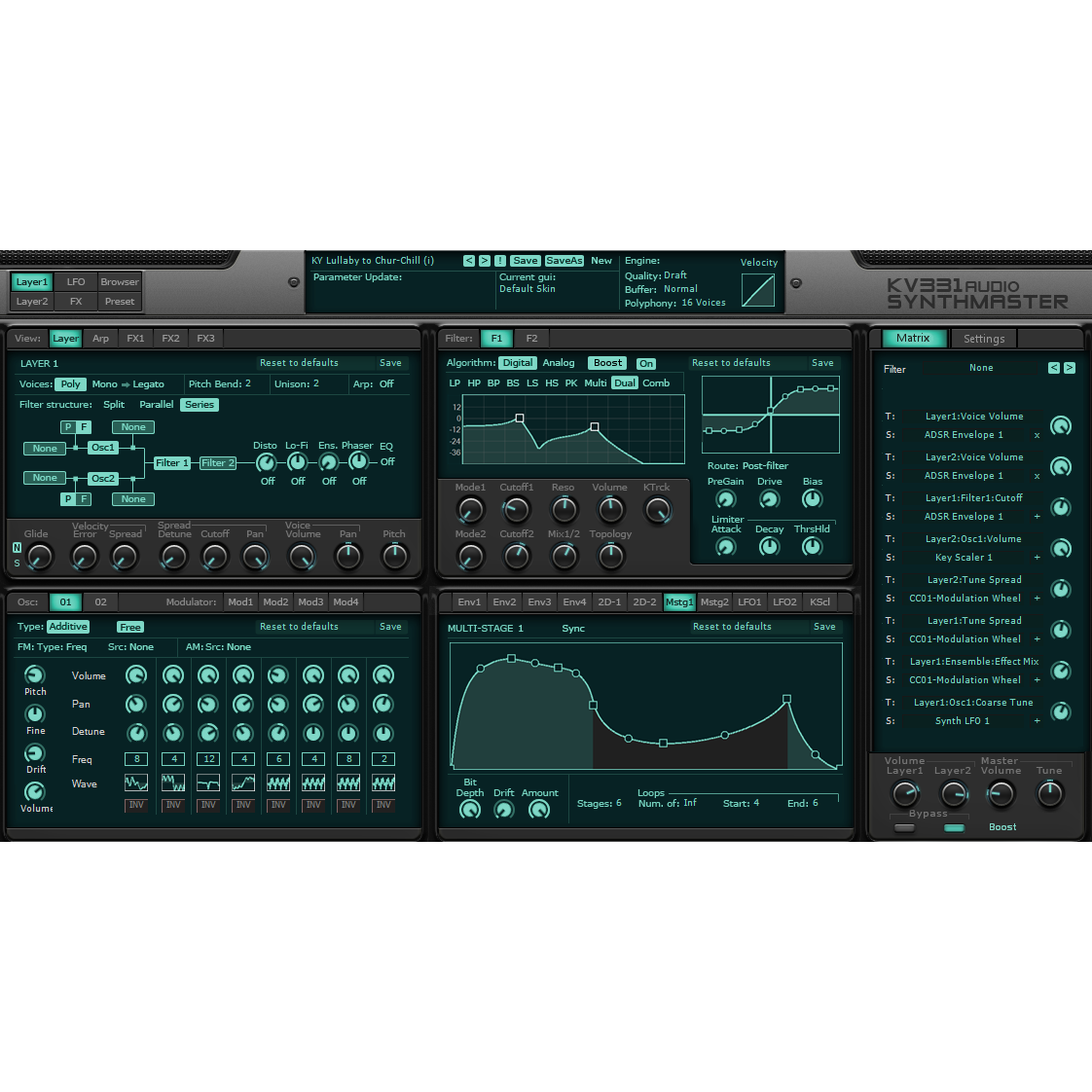 KV331 Audio Synthmaster Virtual Instruments PluginFox