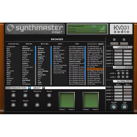 KV331 Audio Synthmaster Player Virtual Instruments PluginFox