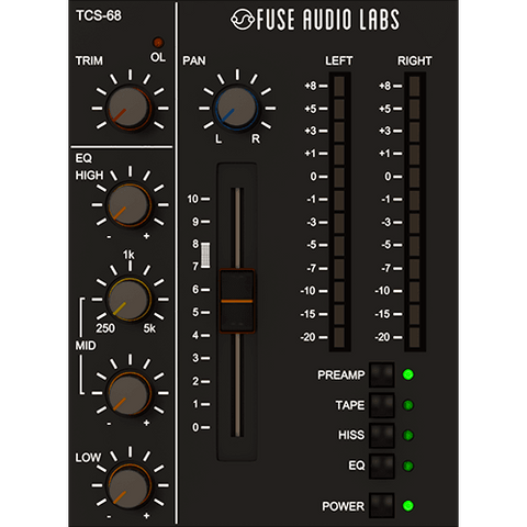 Fuse Audio Labs TCS-68 Plugins PluginFox