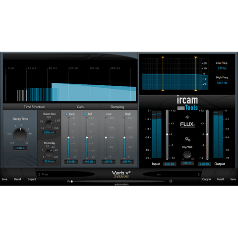 Flux Ircam Verb Session V3 Plugins PluginFox
