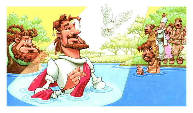 Baptism by illustrator Dennis Jones Print