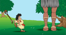 Load image into Gallery viewer, David and Goliath Cartoon Mural 8x15