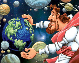 Jesus and the Earth Print by Dennis Jones