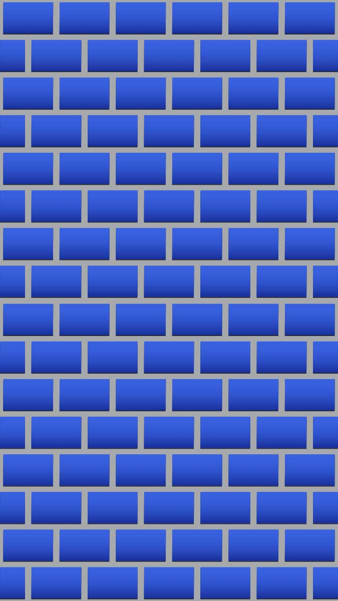 Blue Brick Wall Mural