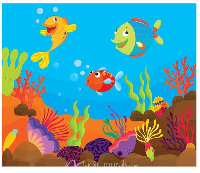Cartoon Fish Mural