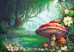 Cartoon Enchanted Forest Mural
