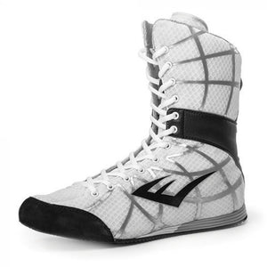 Zapatillas bota larga de boxeo Everlast Grid (blanco)
