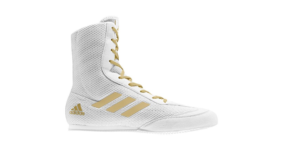 Zapatillas de boxeo Adidas HOG 2 Plus (Blanco / Oro)