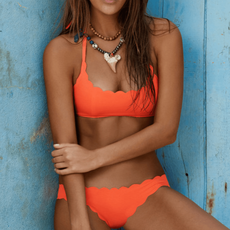 MiraVoss.com:Sophia Push Up Bikini Set,Orange / S