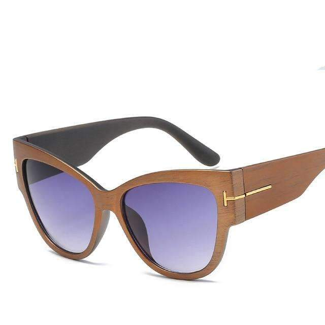 MiraVoss.com:Louisa Cat Eye Sunglasses,Wood Purple