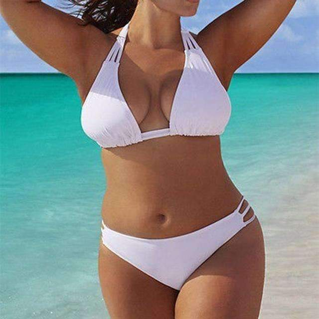 MiraVoss.com:Tamara Push Up Bikini Set,White / XL