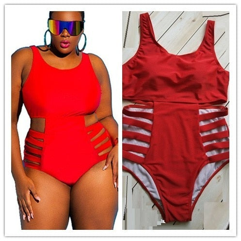Michelle Plus Size Strappy Swimsuit