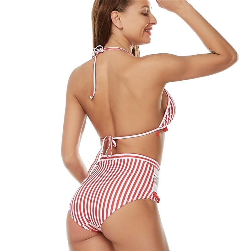 Kerry Halter Retro Mesh Bathing Suit
