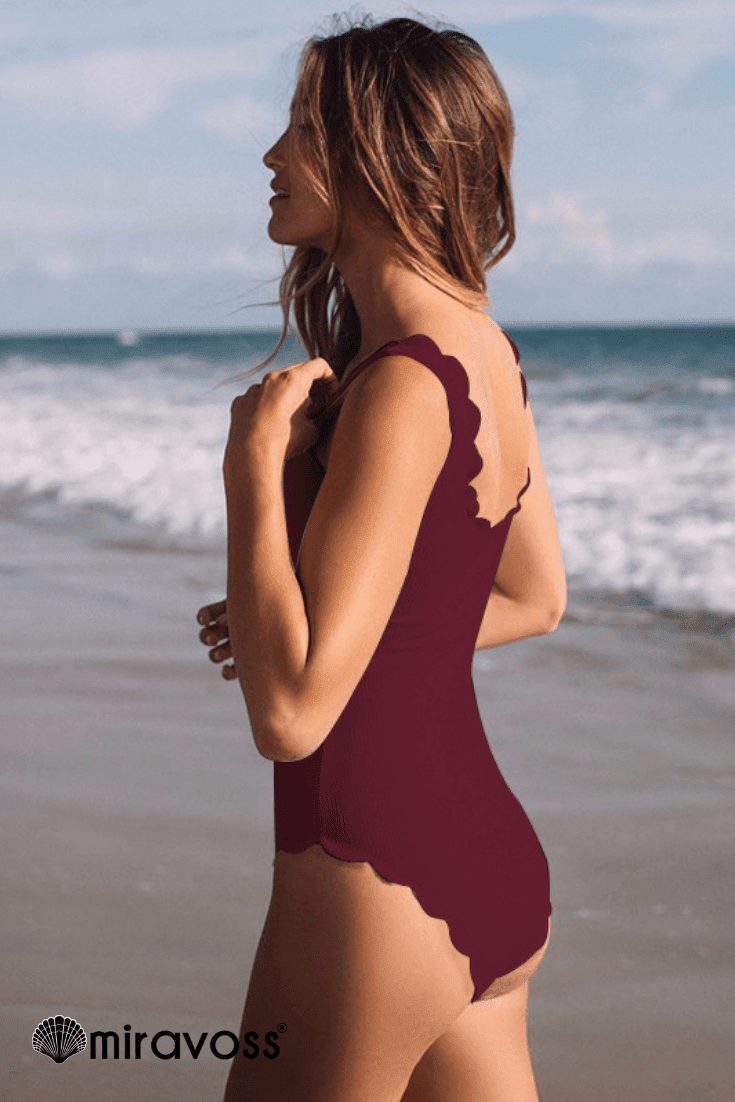 MiraVoss.com:Vicky Summer One Piece,red / S