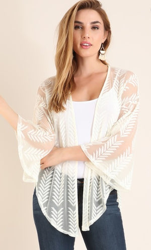 Sheer Arrow Cardigan