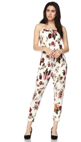Floral Tube-Top Romper