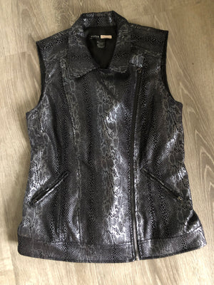 Silver and Black Vest