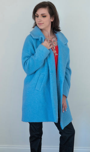 Baby Blue Wool Coat