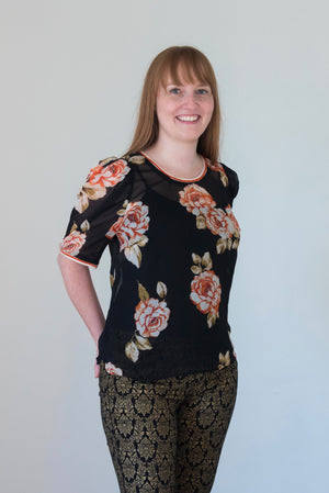 Coral Floral Shirt