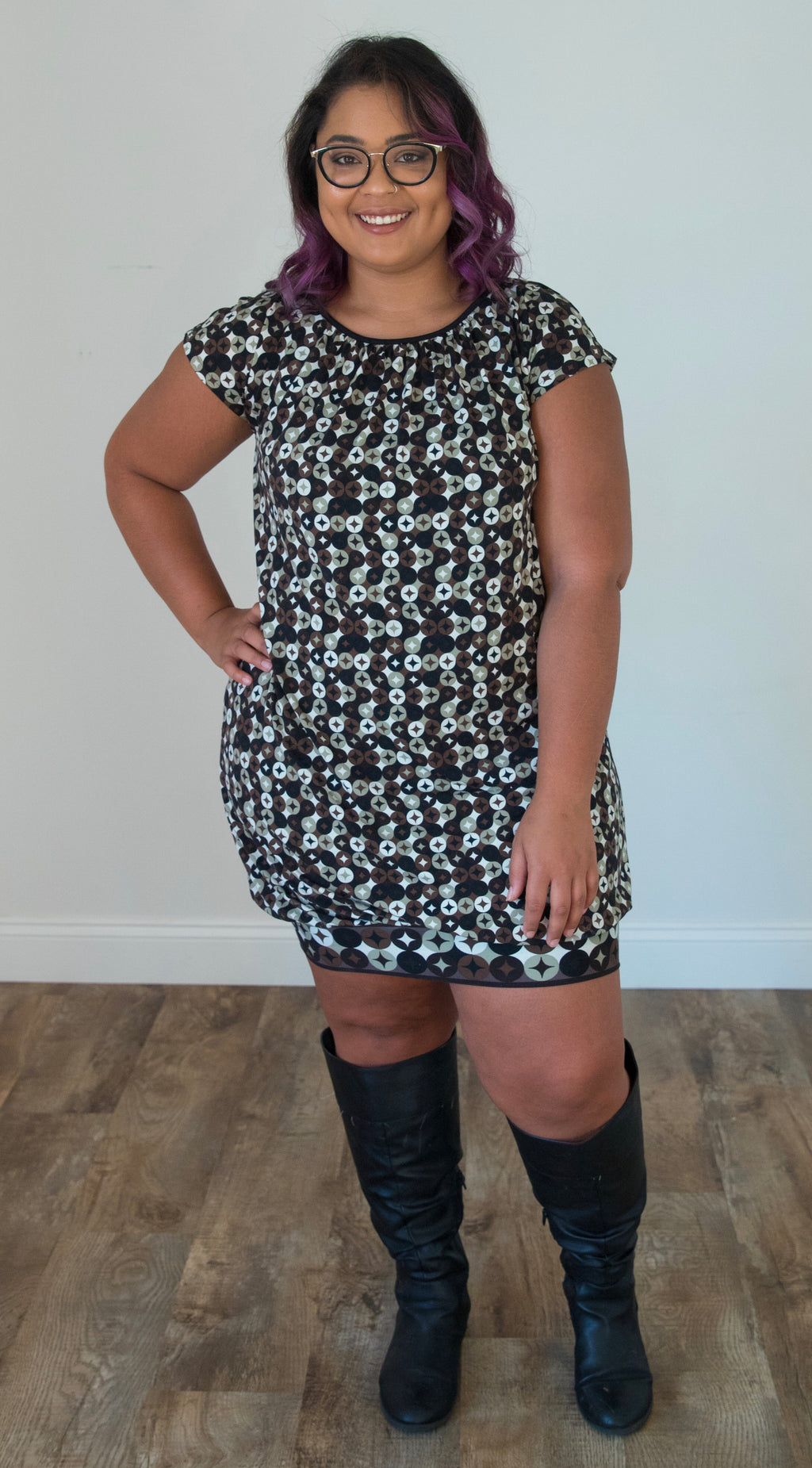 Print Bubble Dress