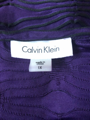 Purple and Black Calvin Klein Shirt