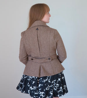 Brown and Cream Chevron Jacket