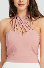 Load image into Gallery viewer, Strappy Rose Halter