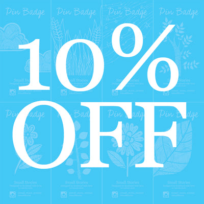 10% off Pins until Tuesday 18th August
