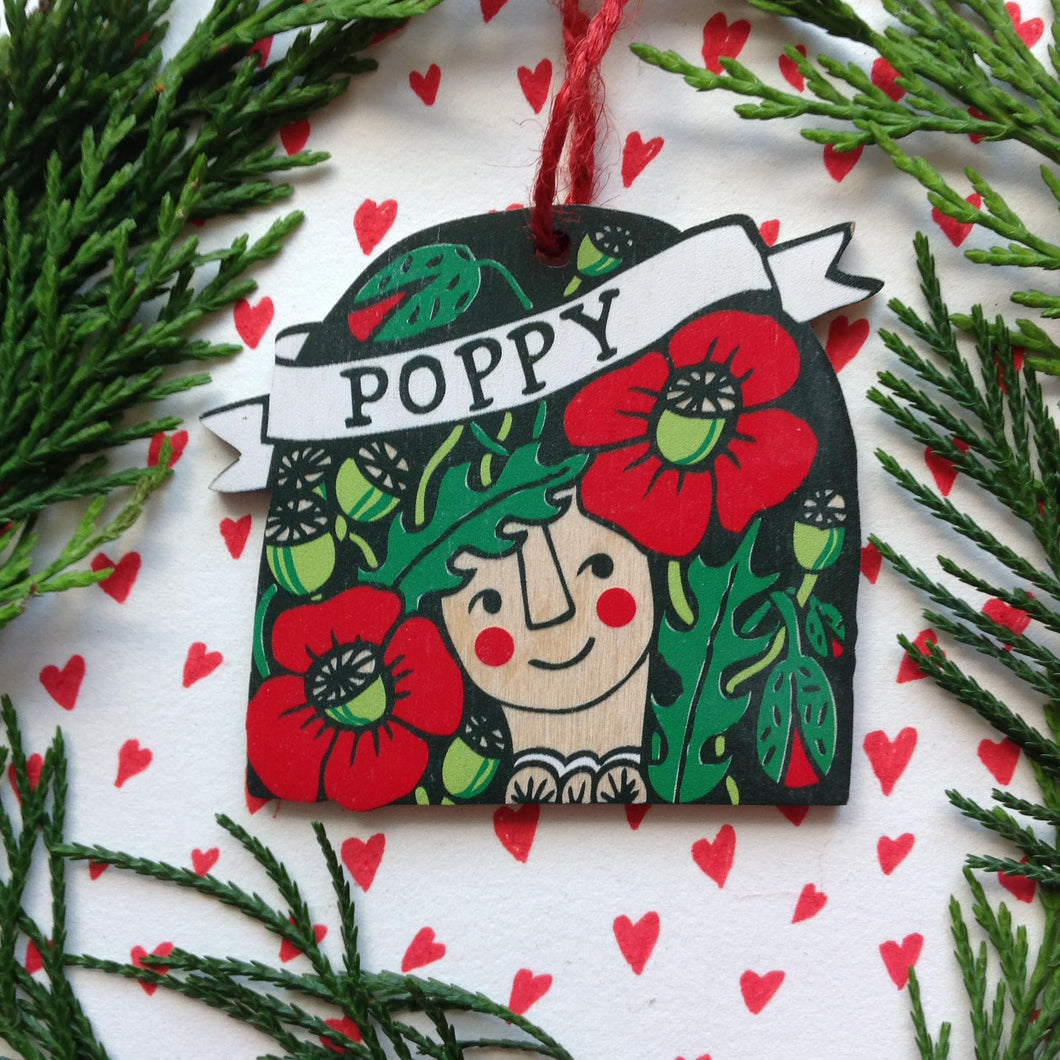 Poppy decoration