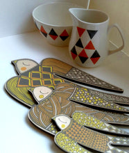 Wooden 'Abstract' Birds (set of 3)
