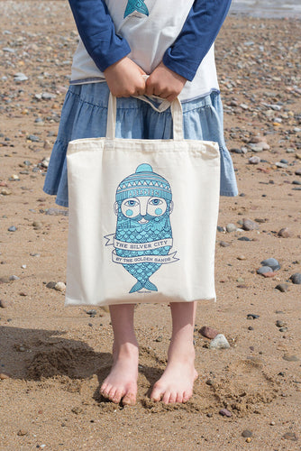 Fishman canvas tote bag