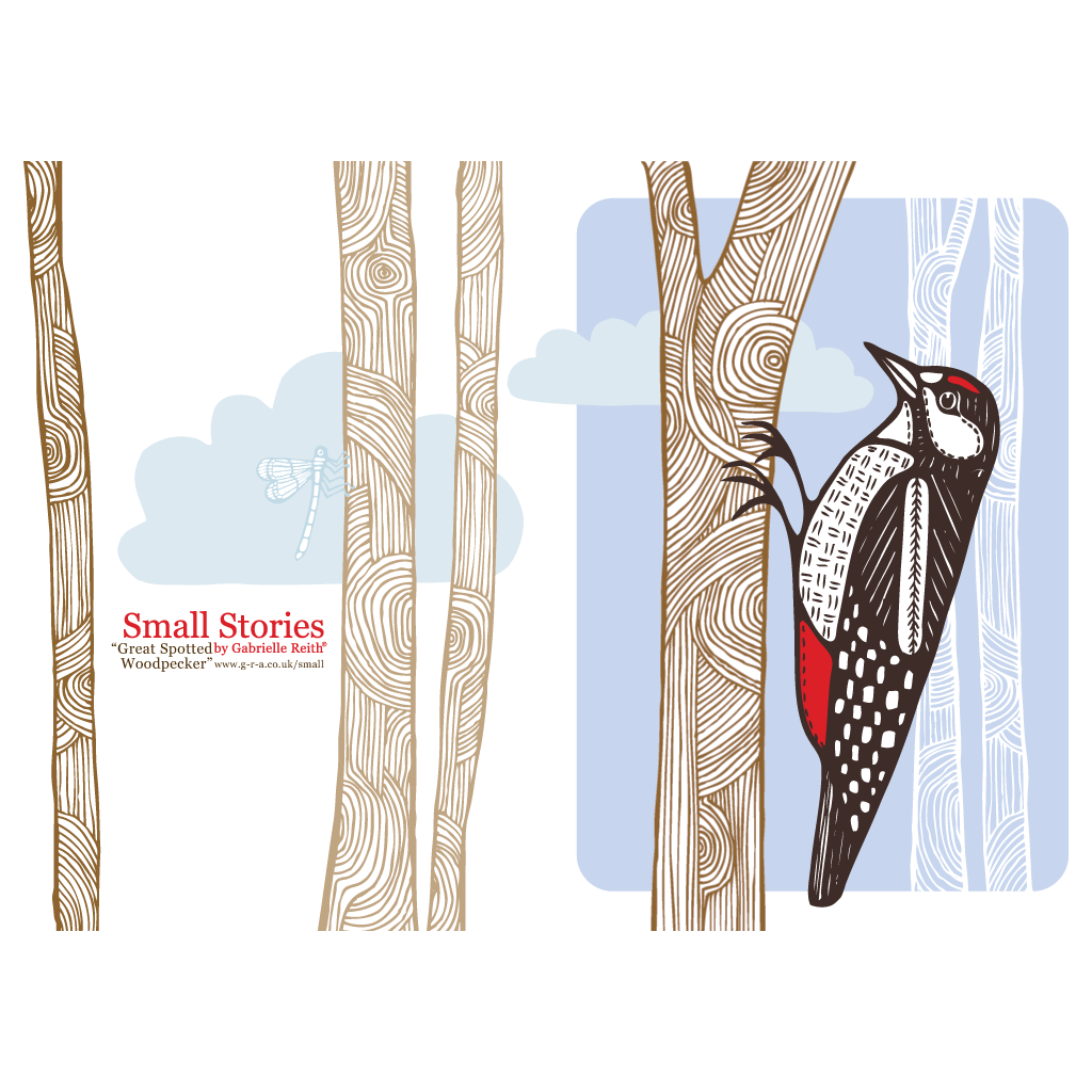 Greater Spotted Woodpecker Card