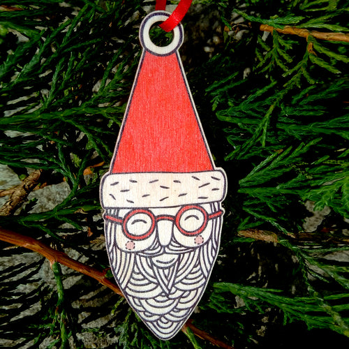 Santa Granddad wooden decoration