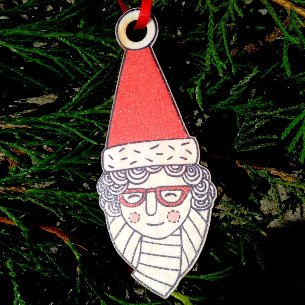 Santa Granny wooden decoration