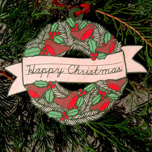 Wreath wooden decoration