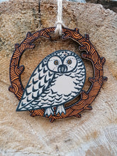 Snowy Owl wooden decoration