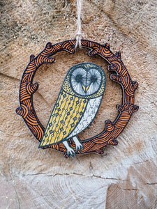 Barn Owl wooden decoration