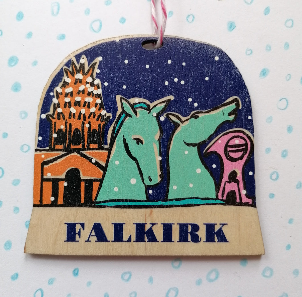 Falkirk snow globe decoration
