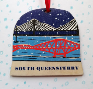 South Queensferry snow globe decoration