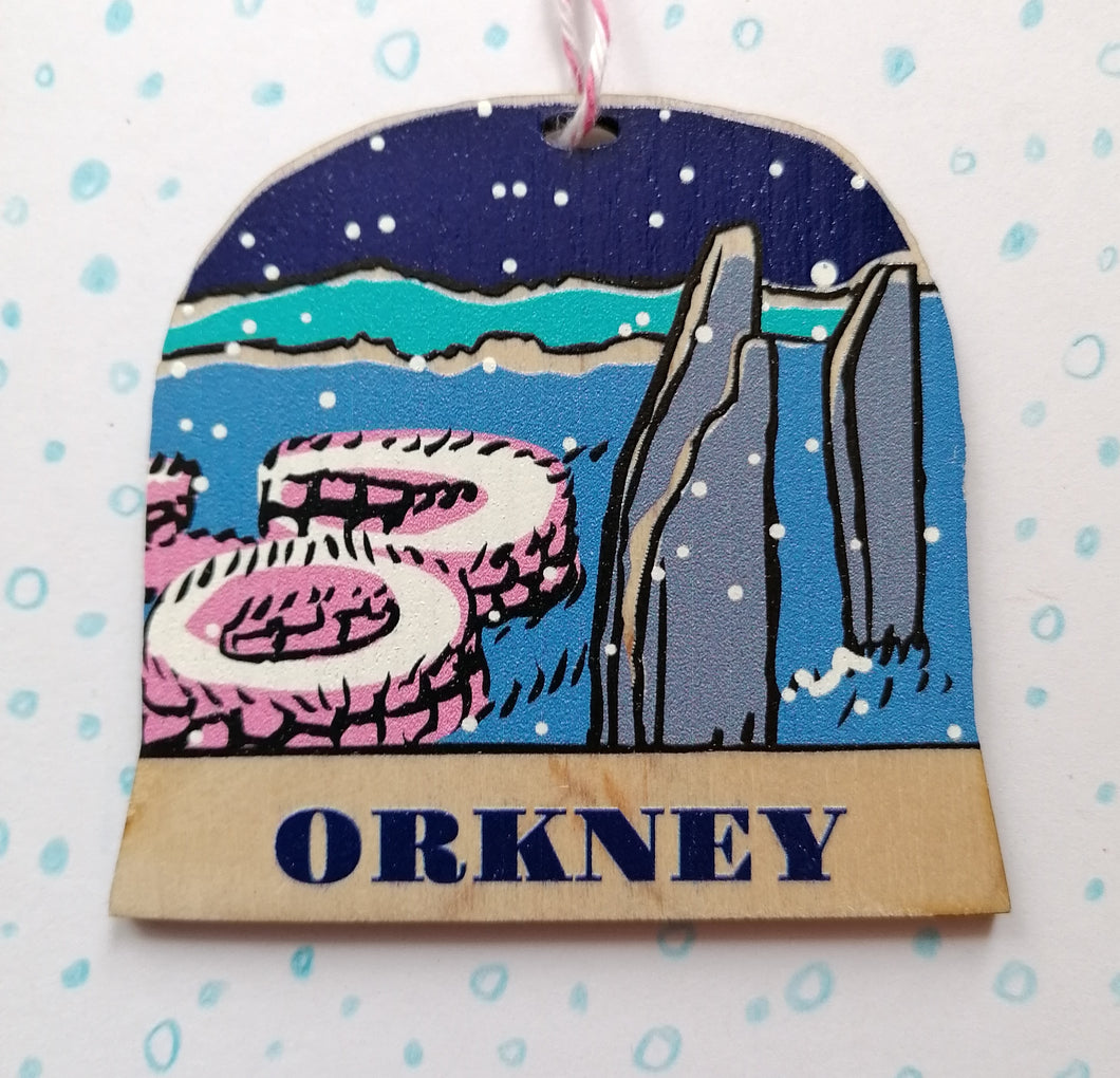 Orkney snow globe decoration