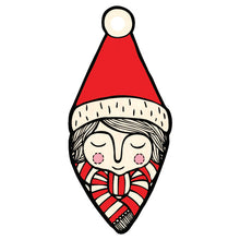 Santa Boy wooden decoration
