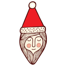 Mrs Santa wooden decoration