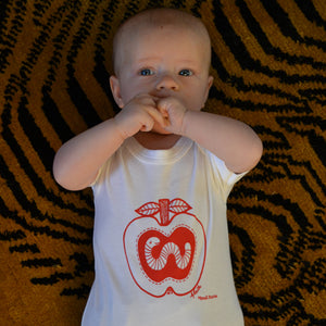HALF PRICE SALE - the Worm that got the Apple Babywear