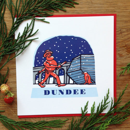 Dundee snow globe greetings card