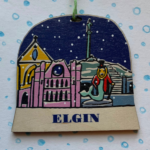 Elgin snow globe decoration