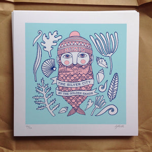 Aberdeen Fishman screen-print