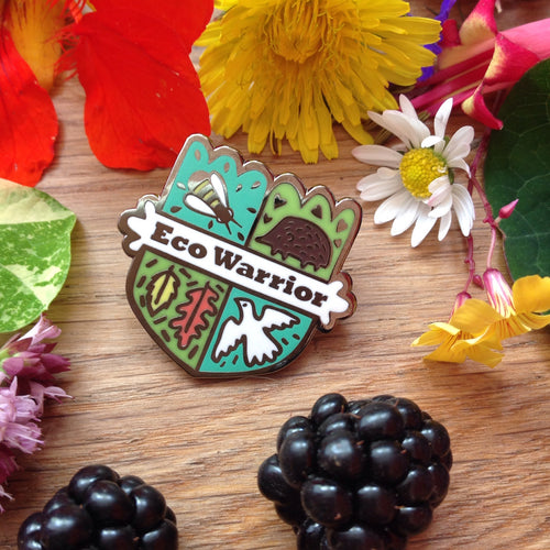 Eco Warrior pin badge