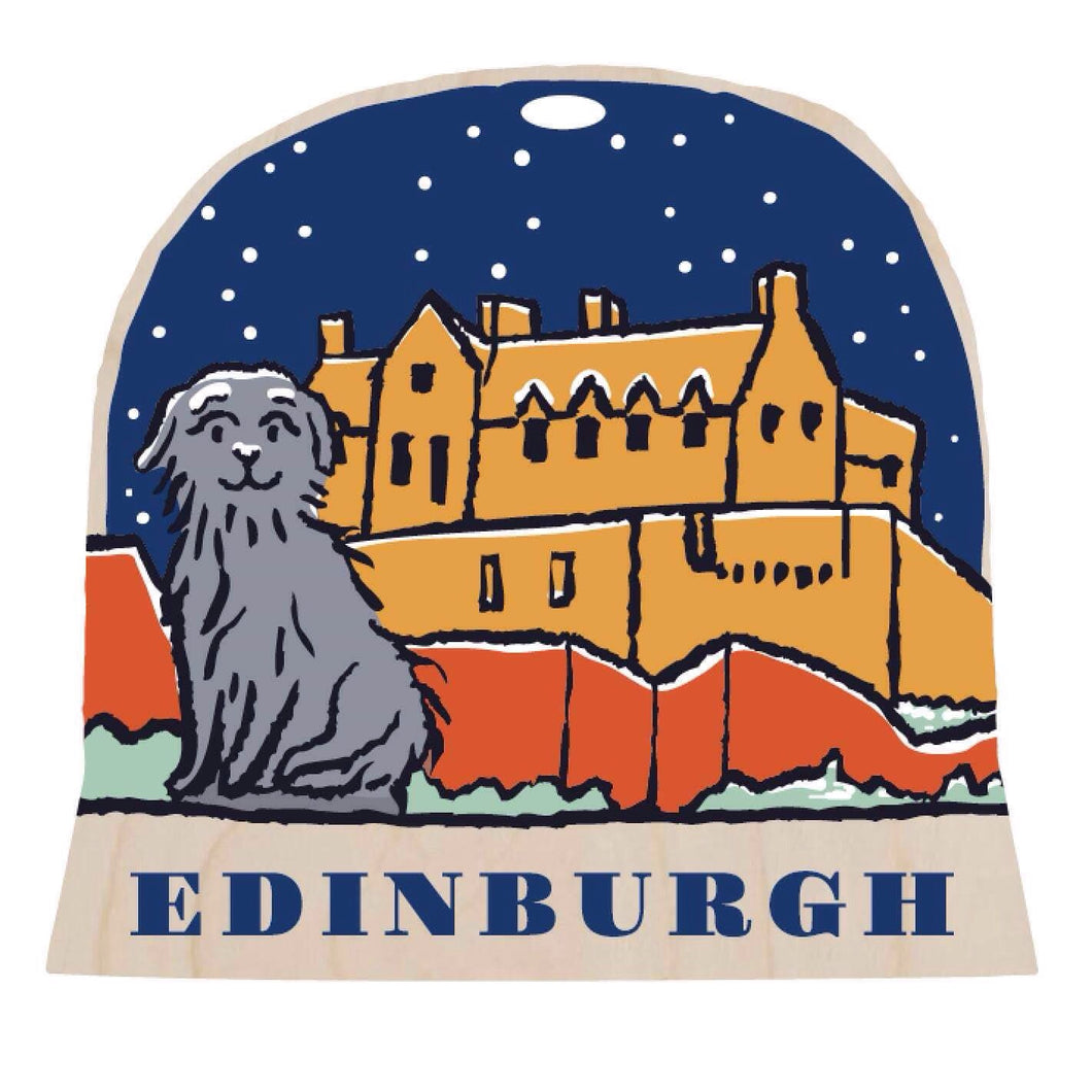 Edinburgh snow globe decoration